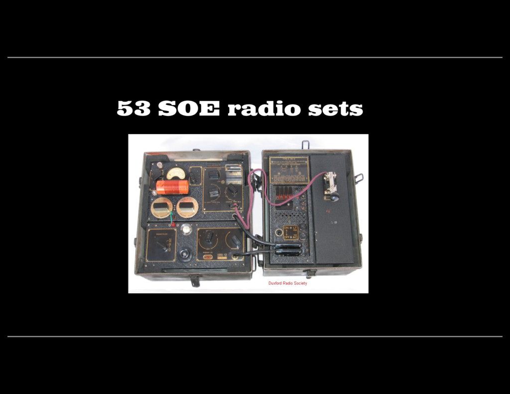 53 SOE radio sets