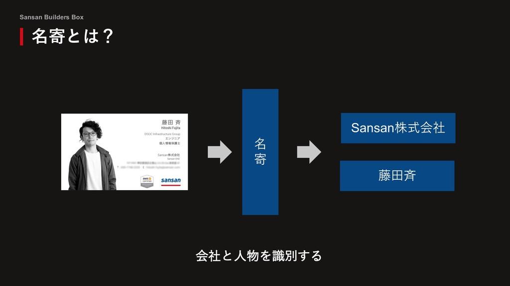 Sansan Builders Box 名寄とは? 名 寄 Sansan株式会社 藤⽥⻫ 会社...