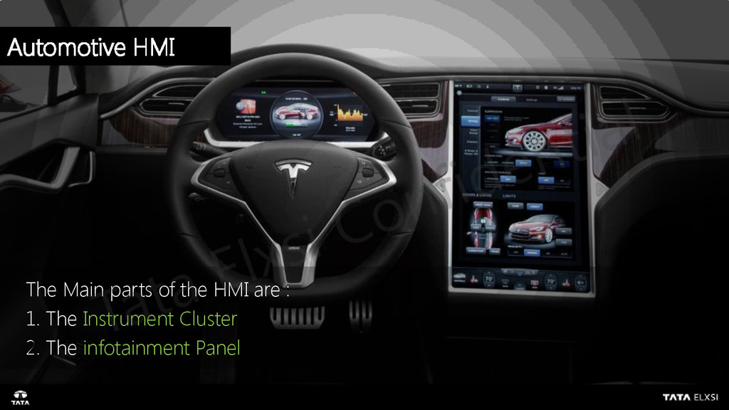 The Main parts of the HMI are : 1. The Instrume...