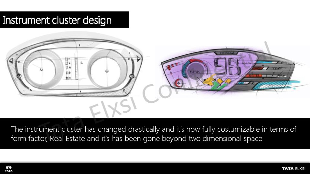 The instrument cluster has changed drastically ...