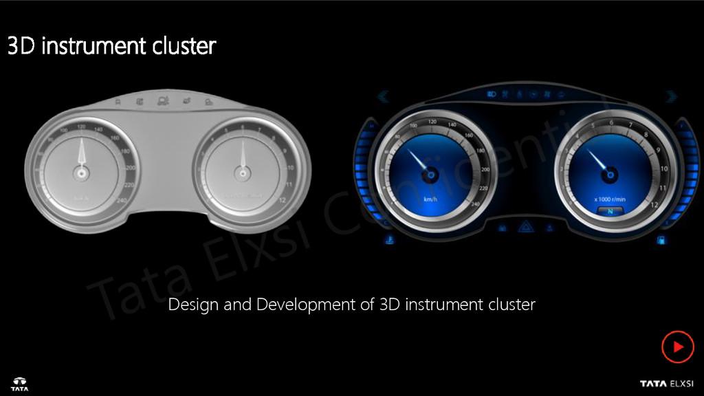 Design and Development of 3D instrument cluster...