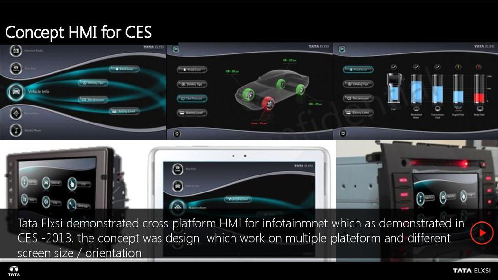 Concept HMI for CES Tata Elxsi demonstrated cro...
