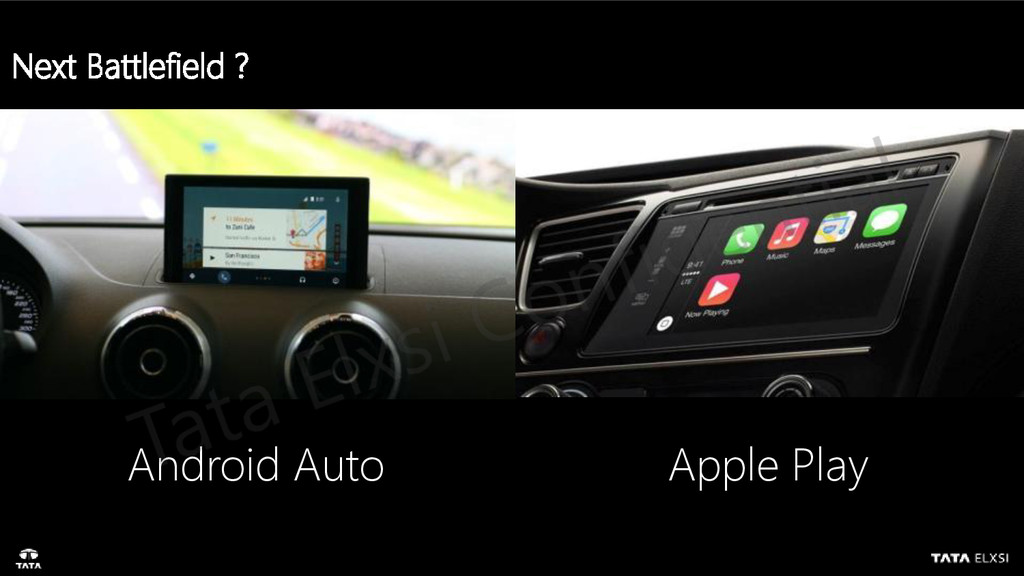 Next Battlefield ? Android Auto Apple Play