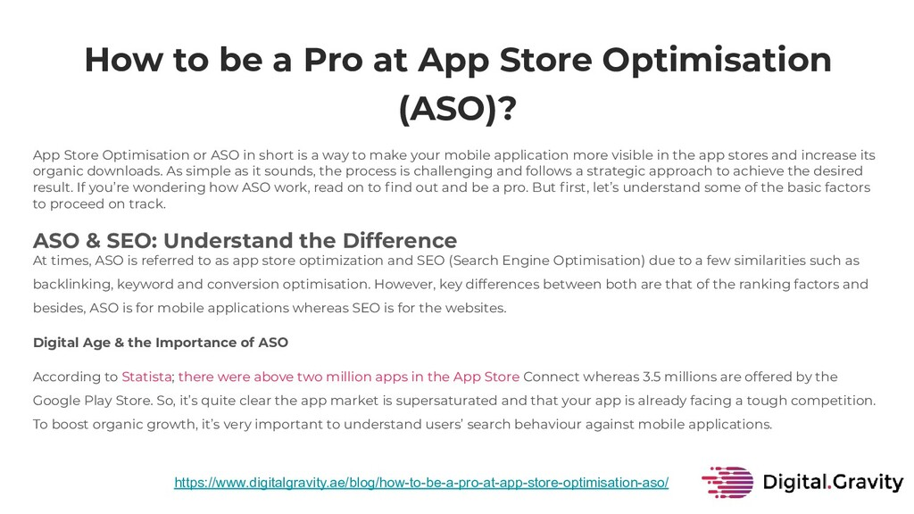 How to be a Pro at App Store Optimisation (ASO)...
