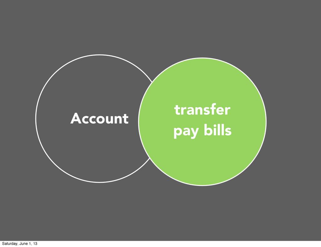 transfer pay bills Account Saturday, June 1, 13