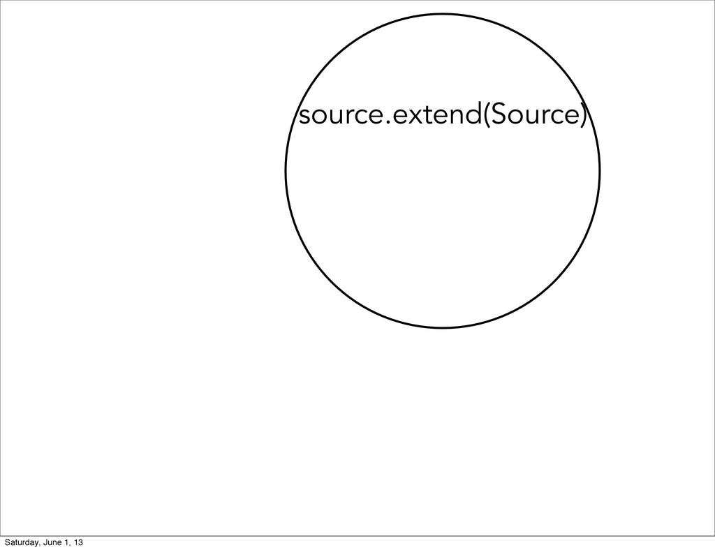source.extend(Source) Saturday, June 1, 13