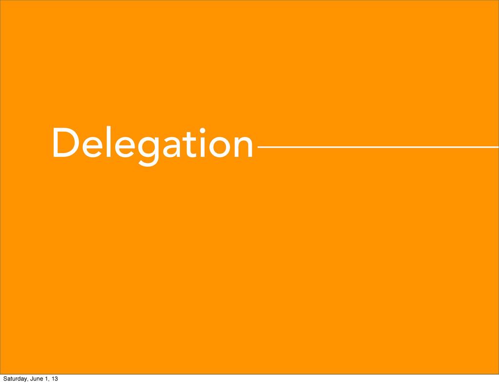 Delegation Saturday, June 1, 13