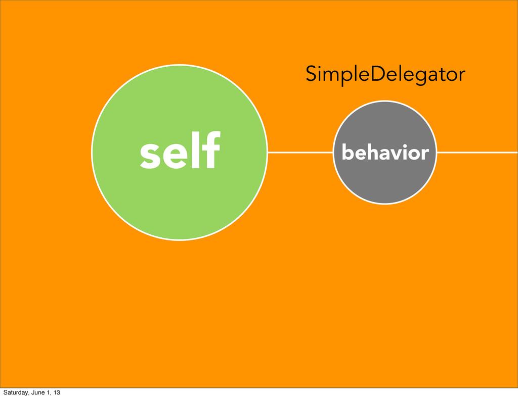 self behavior SimpleDelegator Saturday, June 1,...