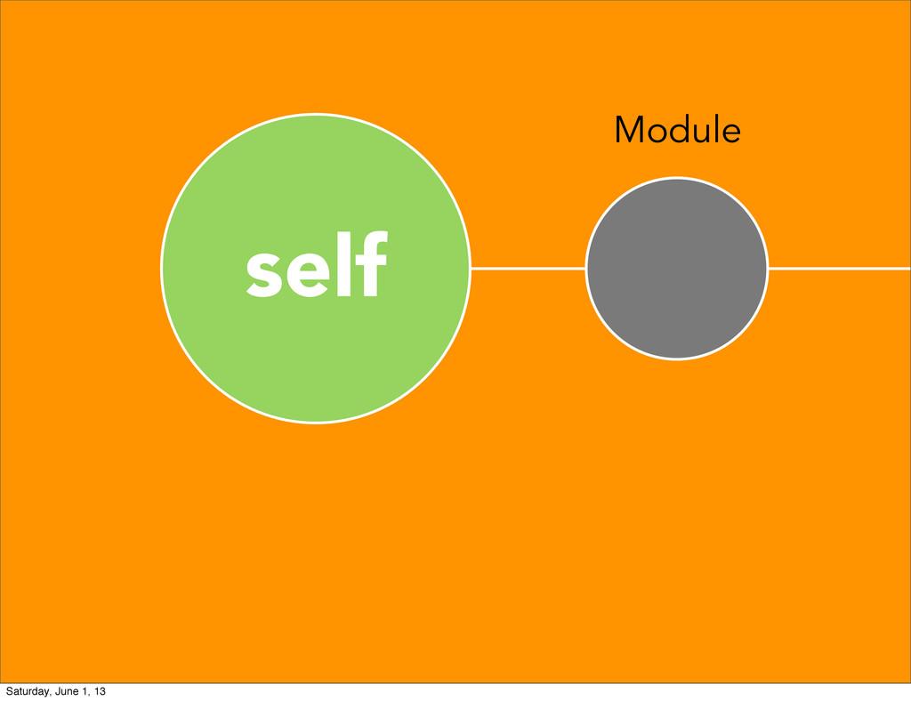self Module Saturday, June 1, 13