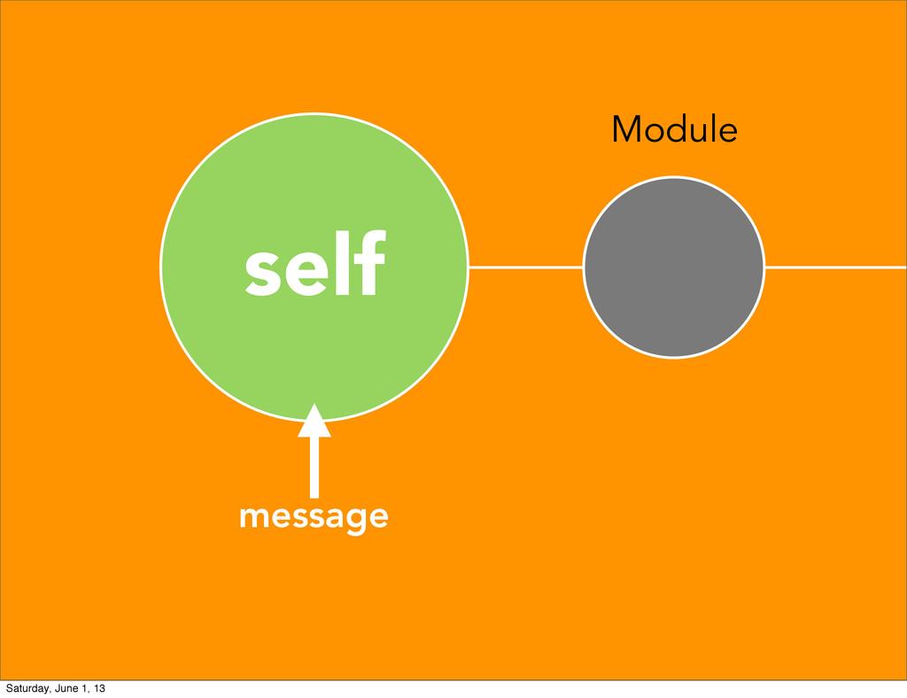 self Module message Saturday, June 1, 13