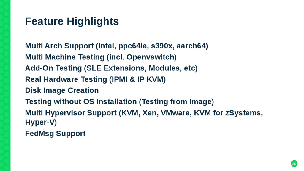 39 Feature Highlights Multi Arch Support (Intel...