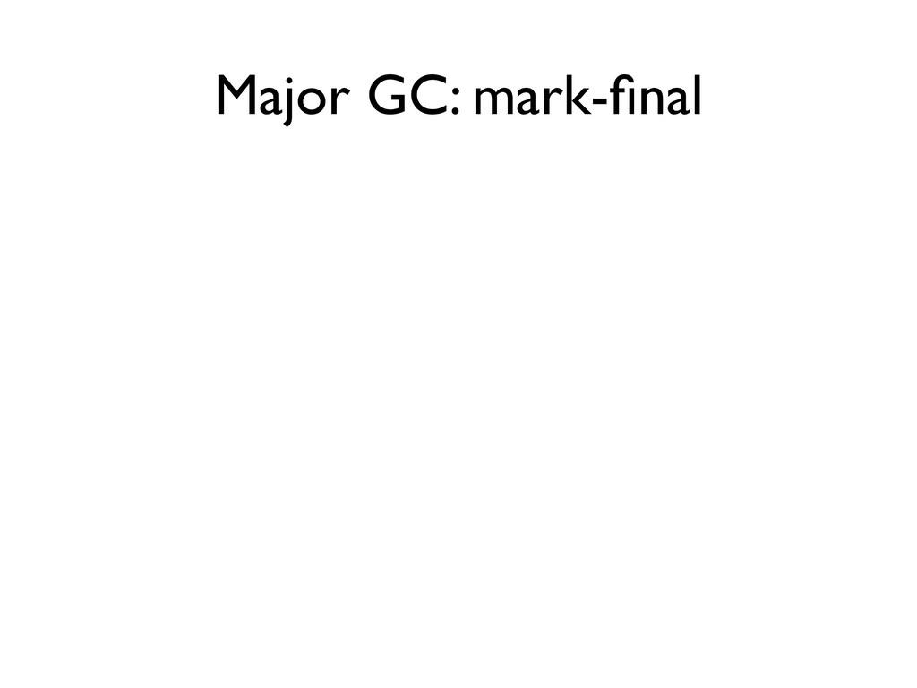Major GC: mark-final