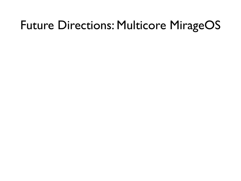 Future Directions: Multicore MirageOS