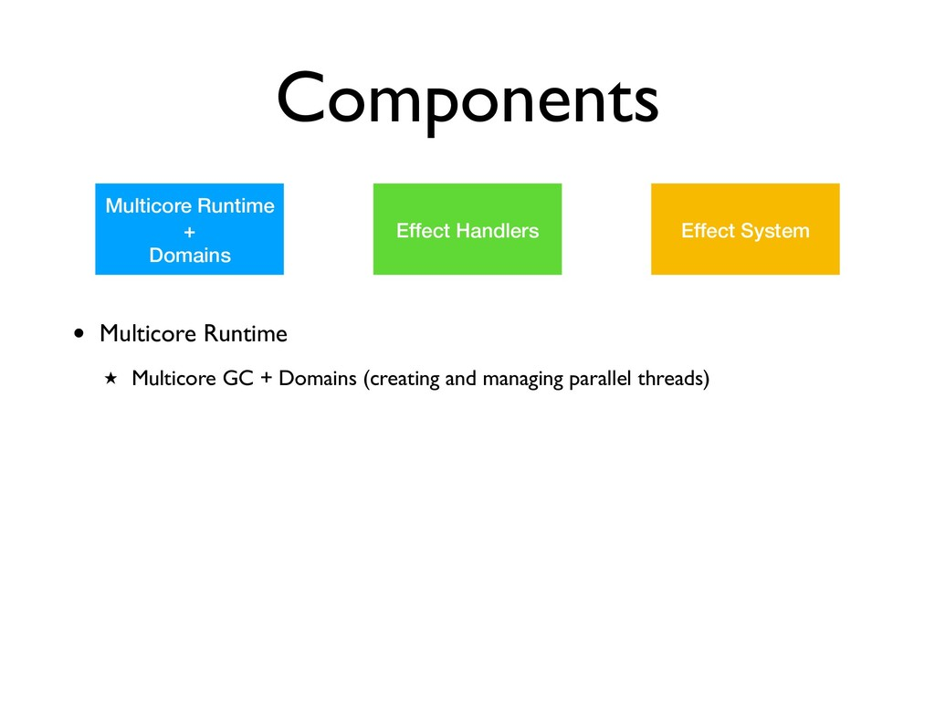 Components Multicore Runtime + Domains Effect H...