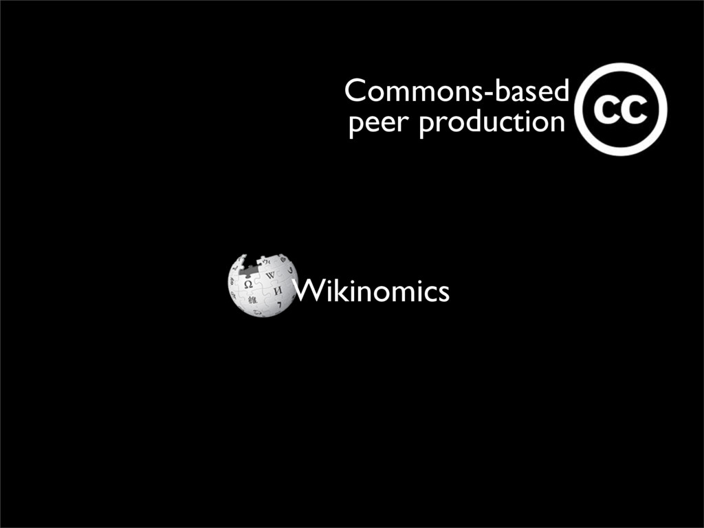 Wikinomics Commons-based peer production