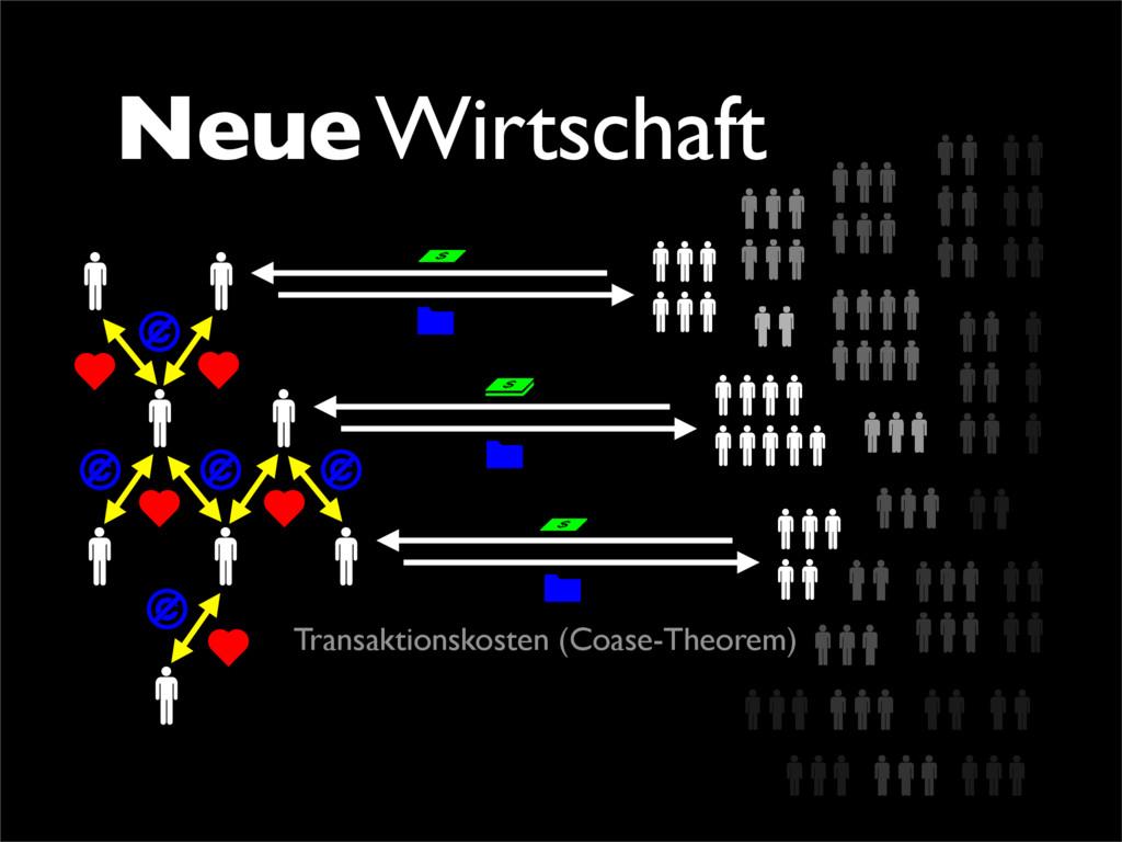 Neue Wirtschaft Transaktionskosten (Coase-Theor...