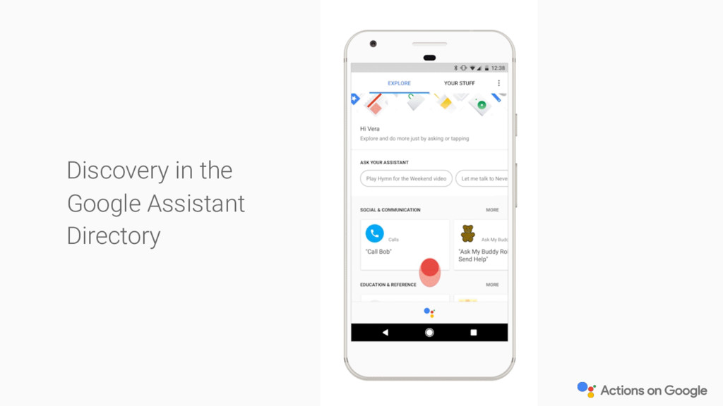 Discovery in the Google Assistant Directory
