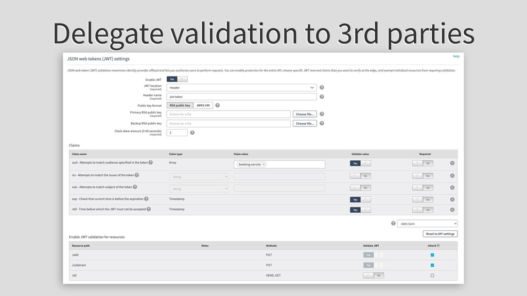 Delegate validation to 3rd parties
