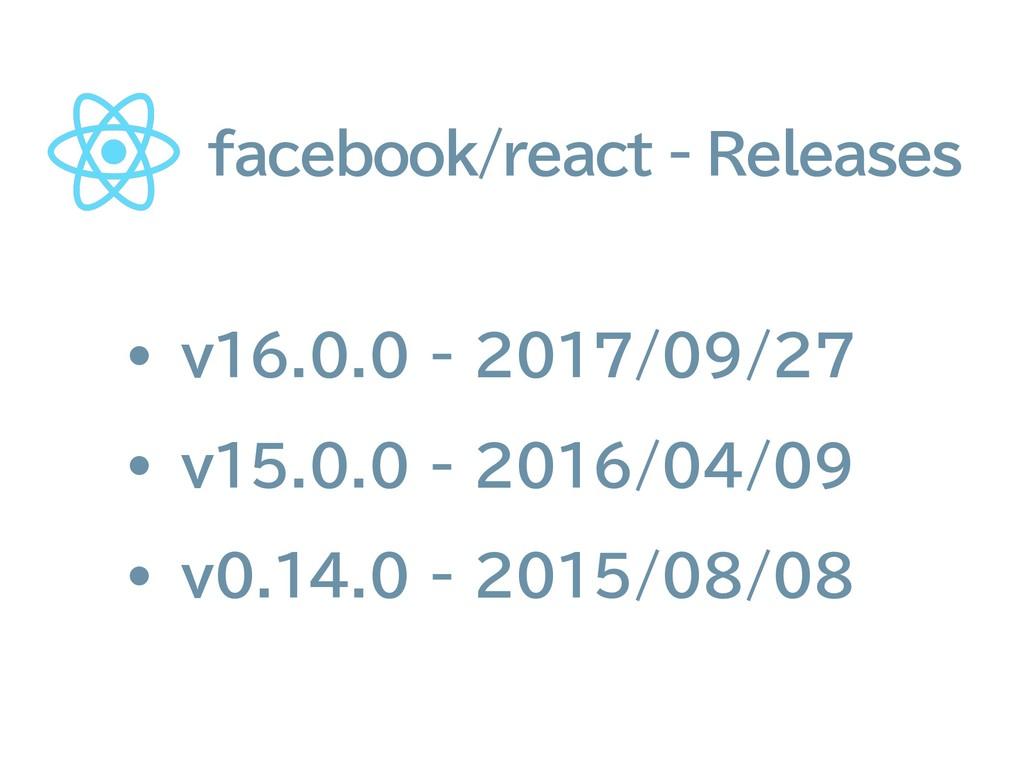facebook/react - Releases • v16.0.0 - 2017/09/2...
