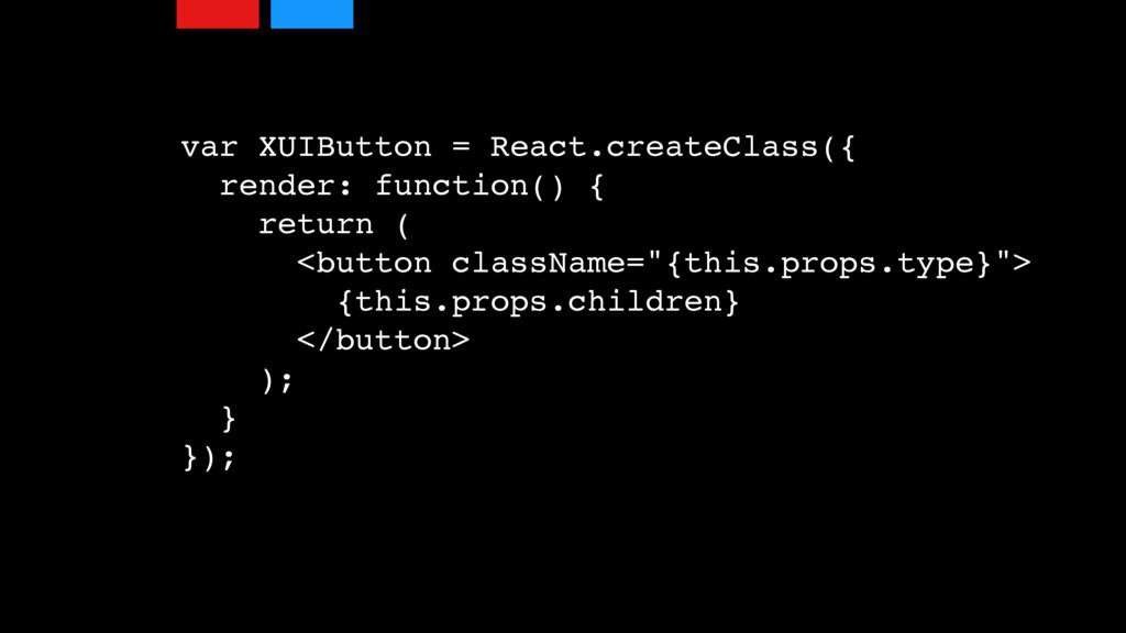 var XUIButton = React.createClass({ render: fun...