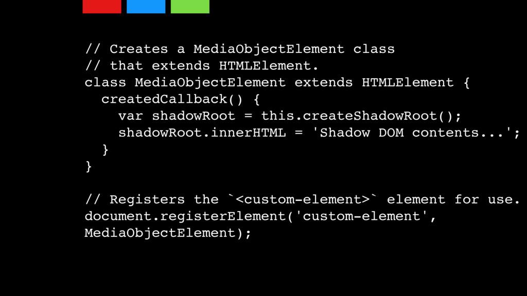 // Creates a MediaObjectElement class // that e...