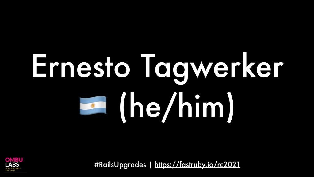 #RailsUpgrades | https://fastruby.io/rc2021 Ern...