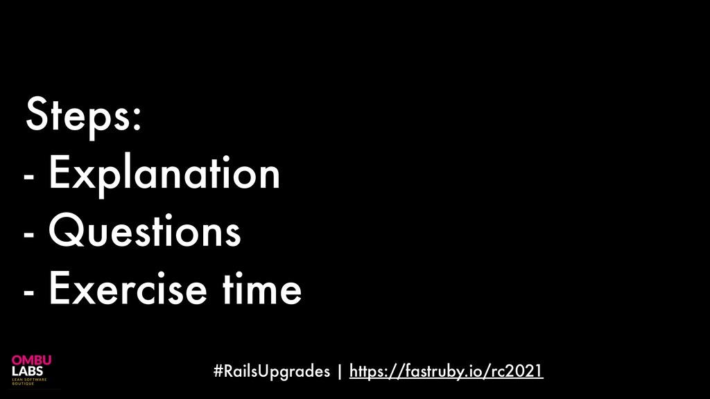 #RailsUpgrades | https://fastruby.io/rc2021 Ste...