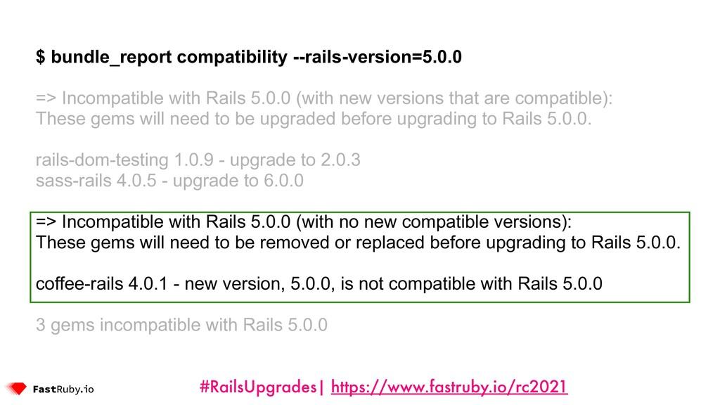 #RailsUpgrades| https://www.fastruby.io/rc2021 ...