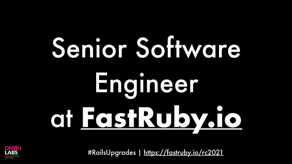 #RailsUpgrades | https://fastruby.io/rc2021 Sen...