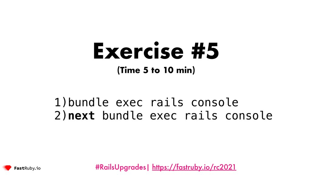 #RailsUpgrades| https://fastruby.io/rc2021 Exer...