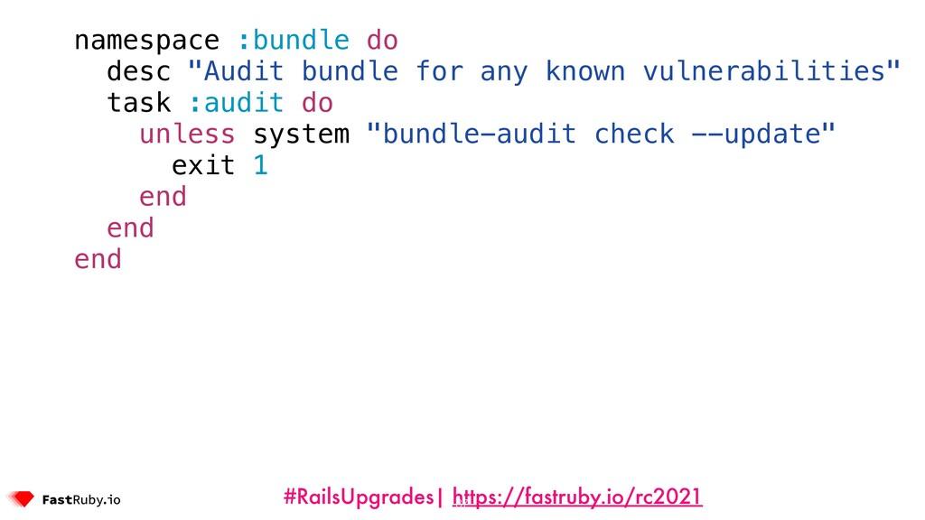 #RailsUpgrades| https://fastruby.io/rc2021 name...