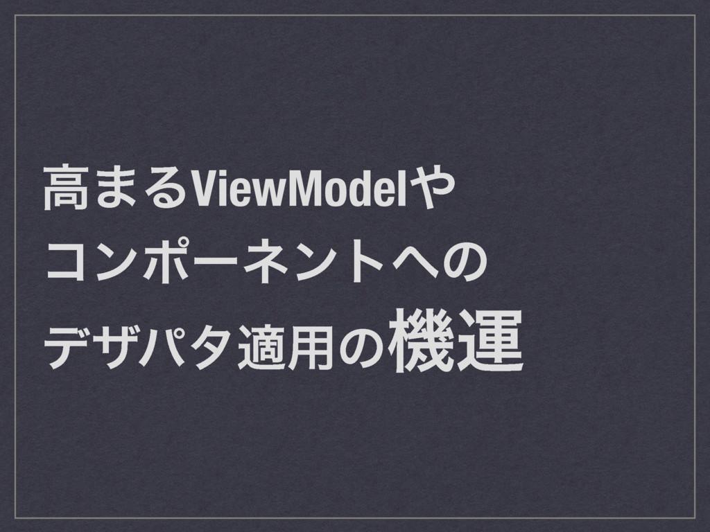 ߴ·ΔViewModel ίϯϙʔωϯτͷ σβύλద༻ͷػӡ