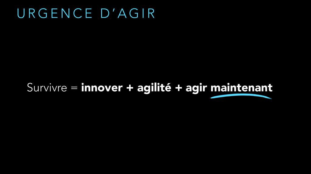 U R G E N C E D ' A G I R Survivre = innover + ...