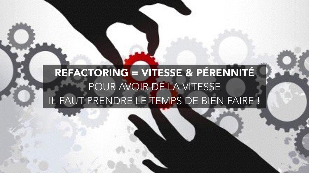REFACTORING = VITESSE & PÉRENNITÉ POUR AVOIR DE...
