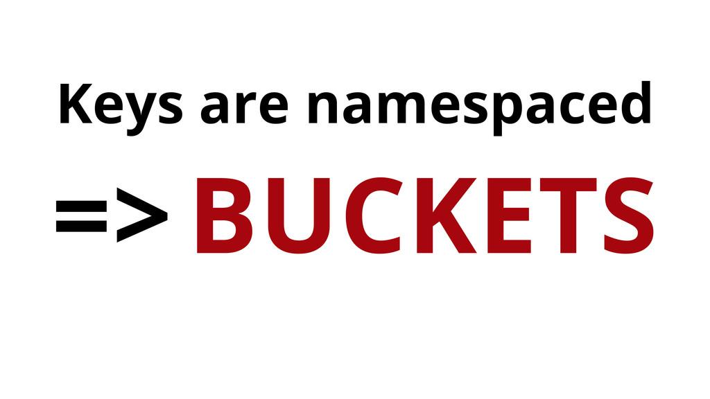 Keys are namespaced => BUCKETS
