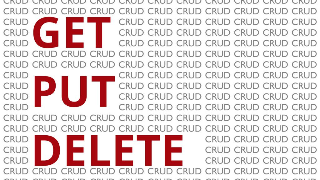 GET PUT DELETE CRUD CRUD CRUD CRUD CRUD CRUD CR...
