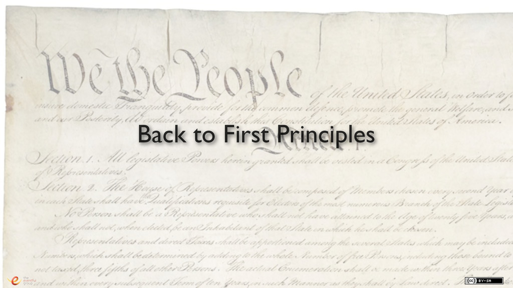 22 Back to First Principles