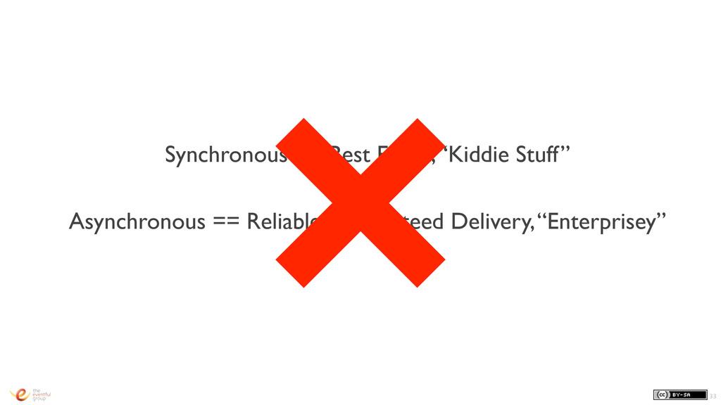 "Synchronous == Best Effort, ""Kiddie Stuff"" Asyn..."
