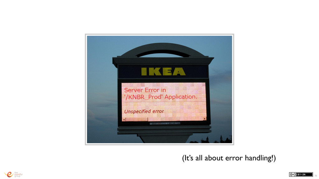 36 (It's all about error handling!)