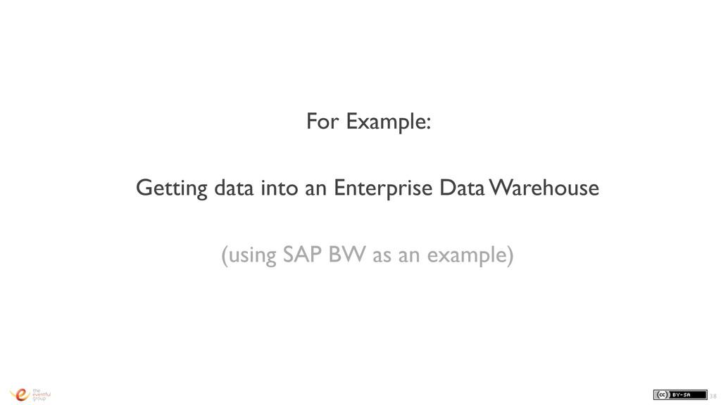For Example: Getting data into an Enterprise Da...