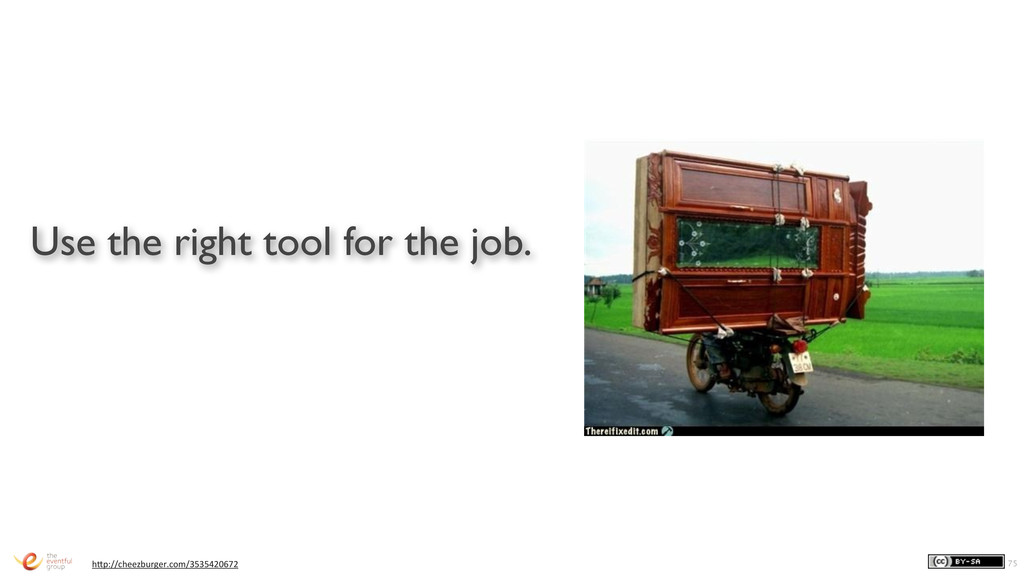 Use the right tool for the job. 75 h1p://cheezb...
