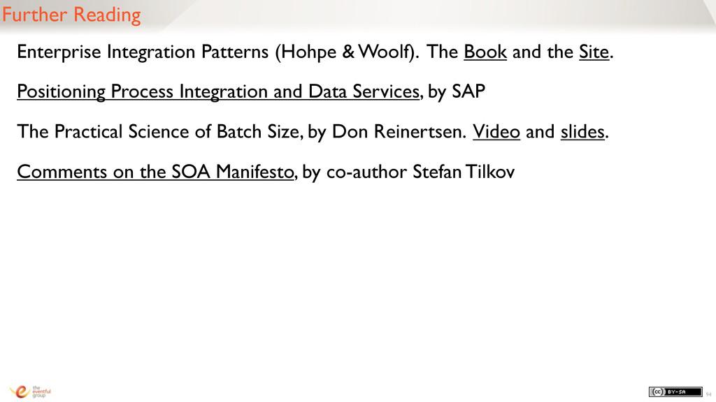 Further Reading Enterprise Integration Patterns...