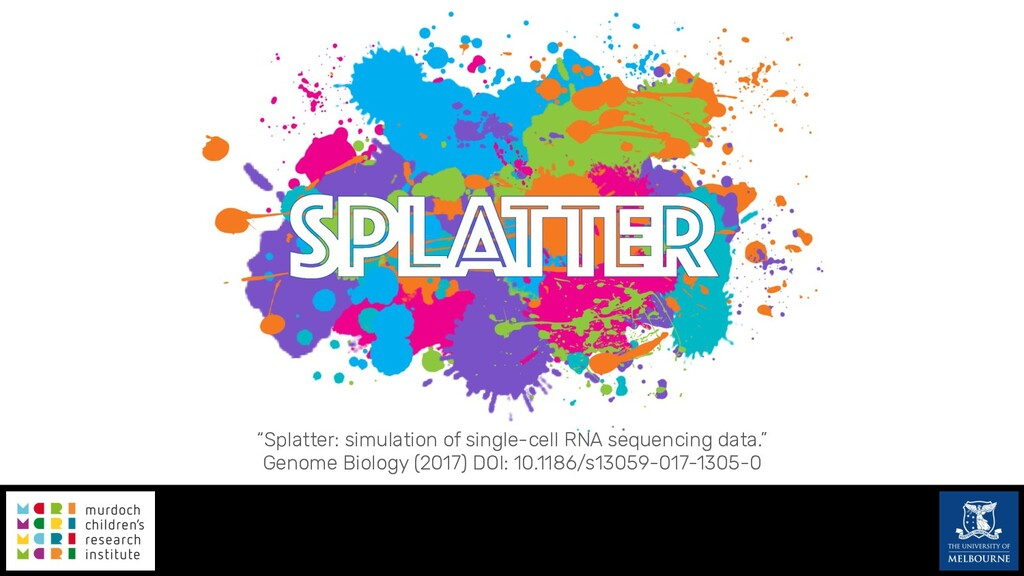 """""""Splatter: simulation of single-cell RNA sequen..."""