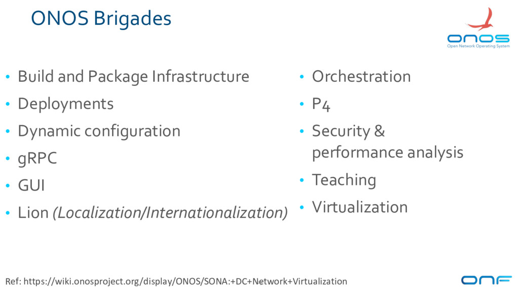 ONOS Brigades • Build and Package Infrastructur...