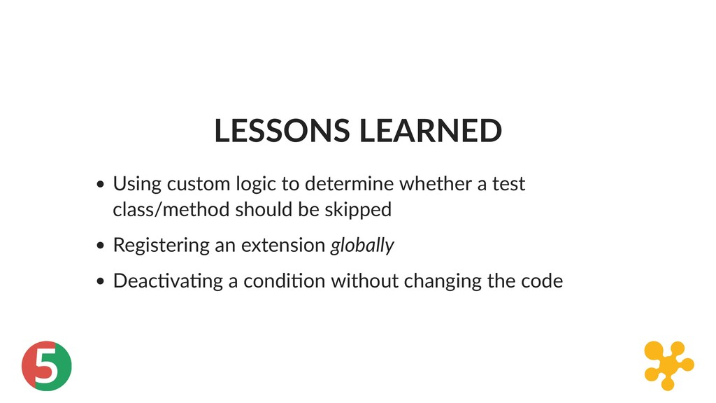 5 LESSONS LEARNED Using custom logic to determi...