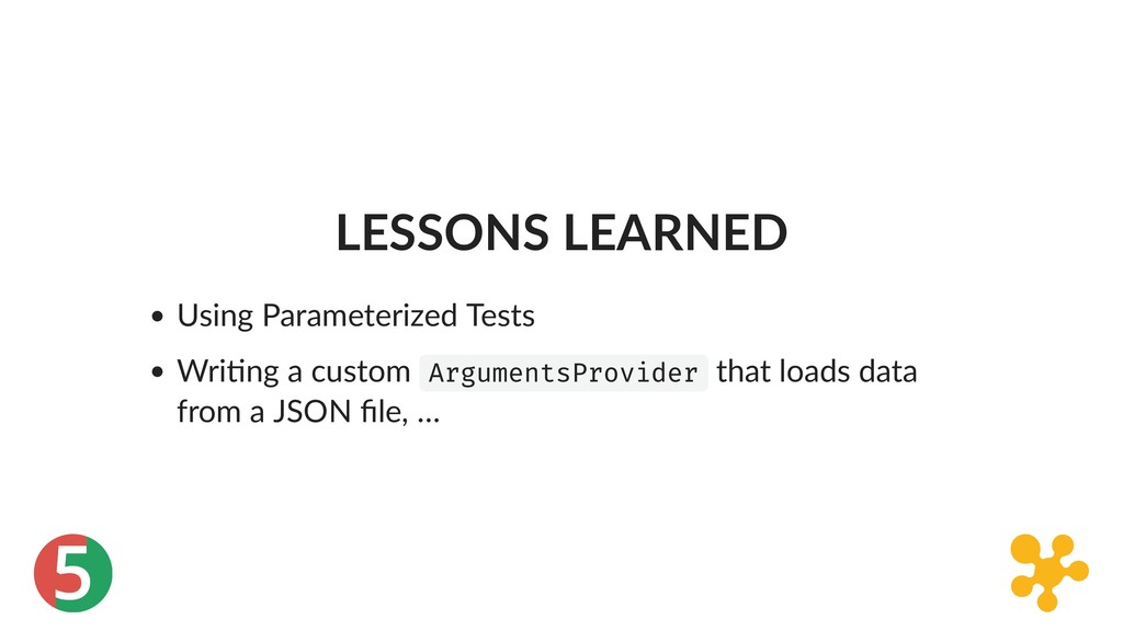 5 LESSONS LEARNED Using Parameterized Tests Wri...