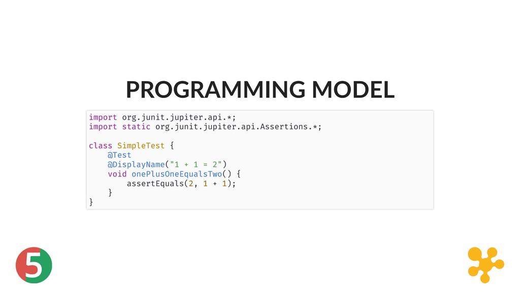 5 PROGRAMMING MODEL import org.junit.jupiter.ap...