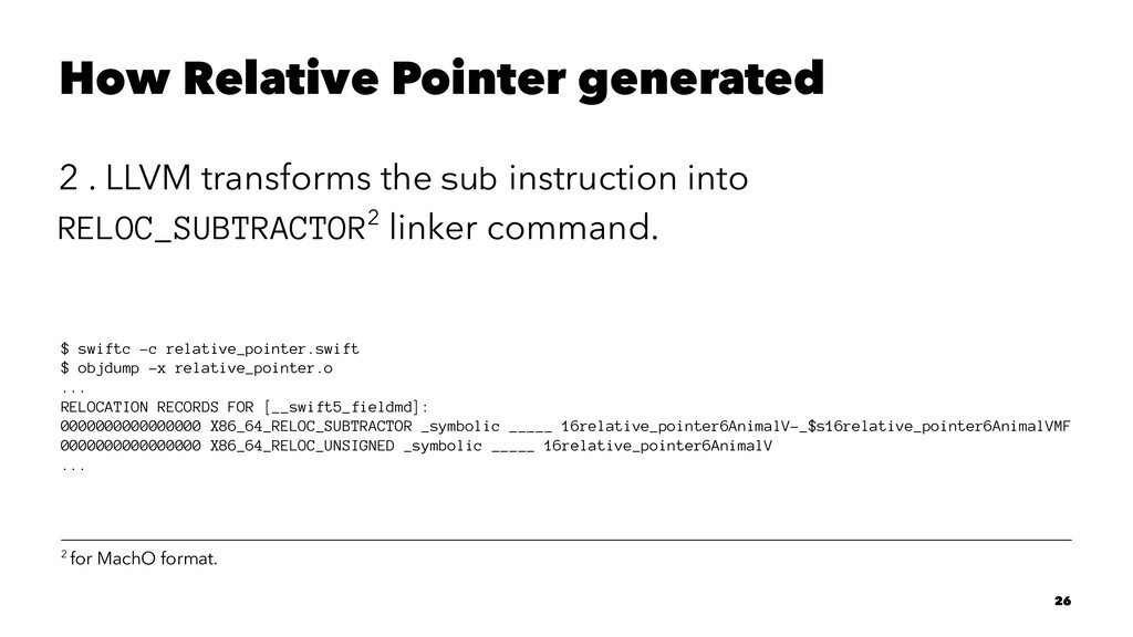 How Relative Pointer generated 2 . LLVM transfo...