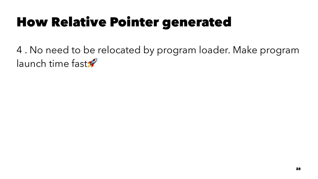 How Relative Pointer generated 4 . No need to b...