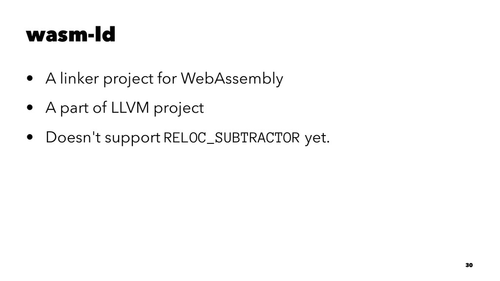 wasm-ld • A linker project for WebAssembly • A ...
